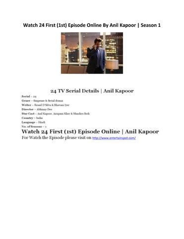 24 season 1 anil kapoor full episodes download