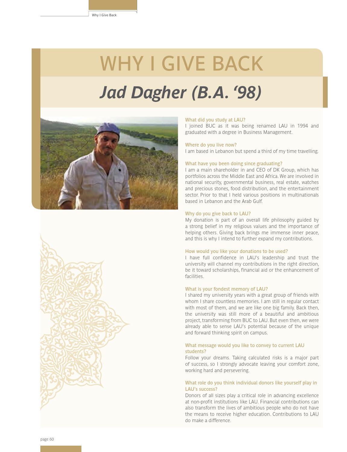 LAU Magazine & Alumni Bulletin (Fall 2013, Vol  15, Issue no  4) by