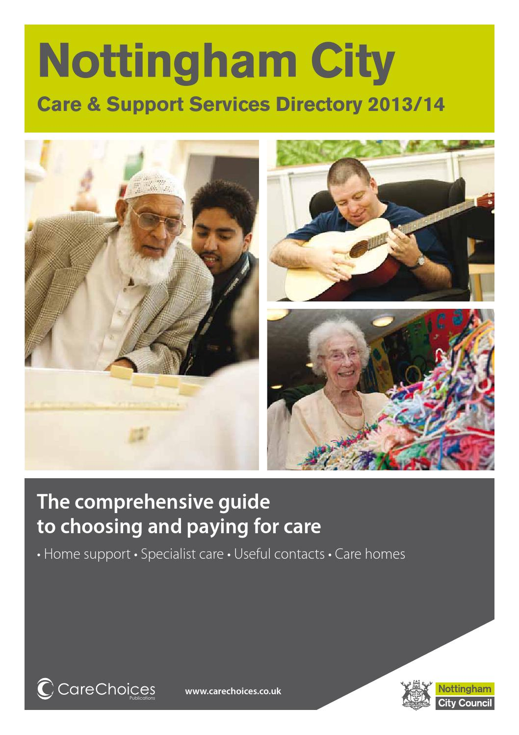 Nottingham City Care And Support Services Directory 2013 14 By Choices Ltd
