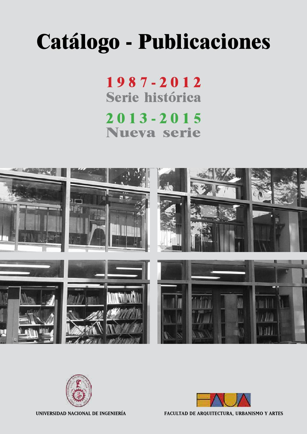 Catalogo publicaciones faua uni by edifaua issuu for Facultad de arquitectura direccion