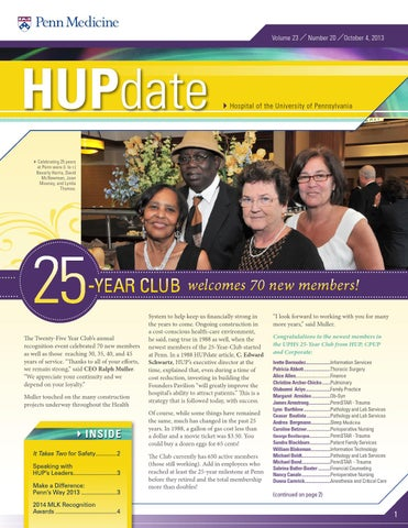 Hupdate Oct 4 2013 by Penn Medicine - Issuu