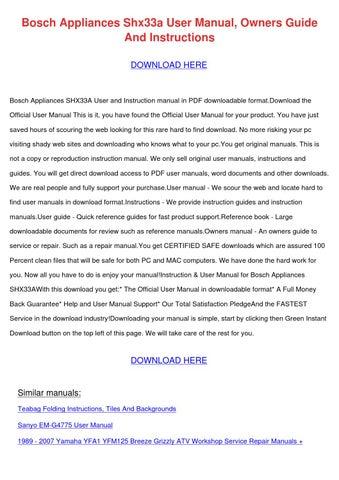 Bosch HBA22R251E manual - ManualsCat.com