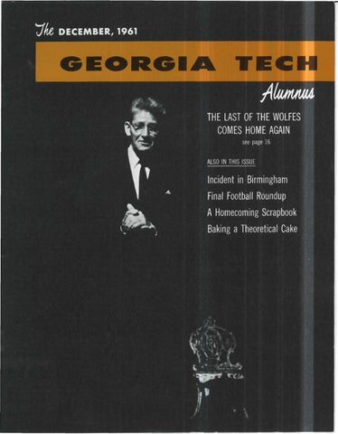 Georgia Tech Alumni Magazine Vol 40 No 04 1961 By Georgia Tech
