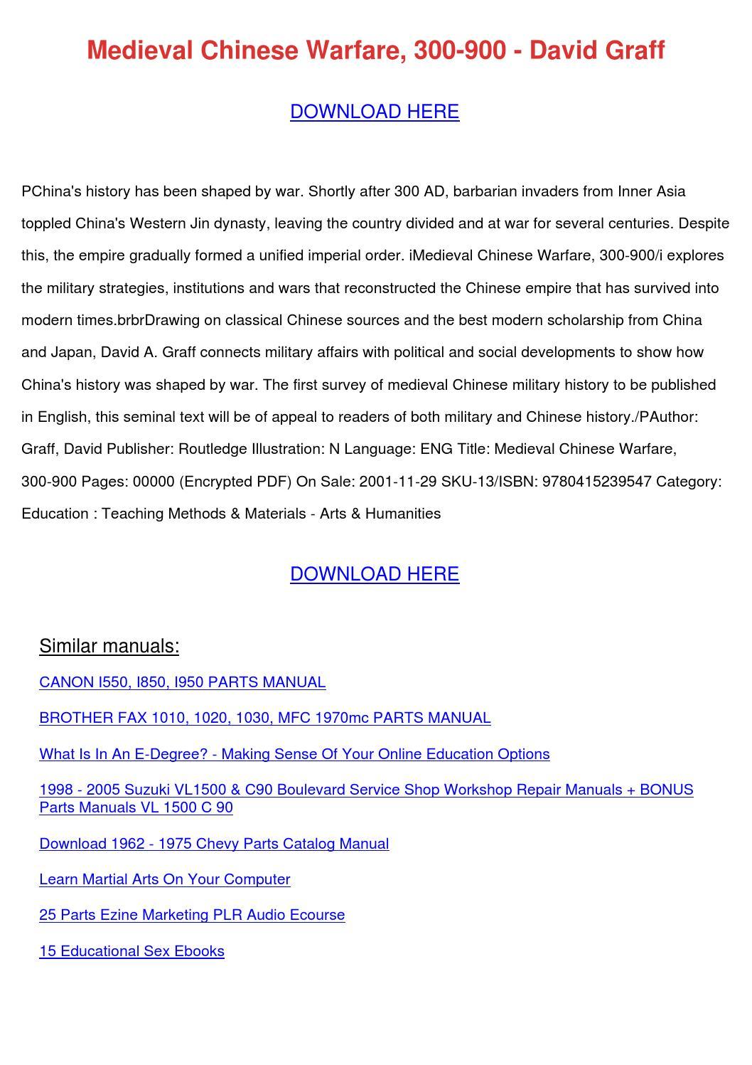 Medieval chinese warfare 300 900 david graff by preciouspaulson issuu fandeluxe Images