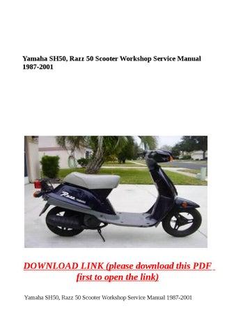 Yamaha Razz Service Manual