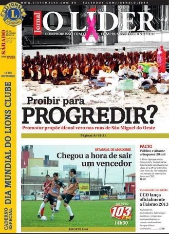 331401eac1a3b Jornal o lider smo 5 de outubro 2013 by Jornal O Líder - São Miguel ...