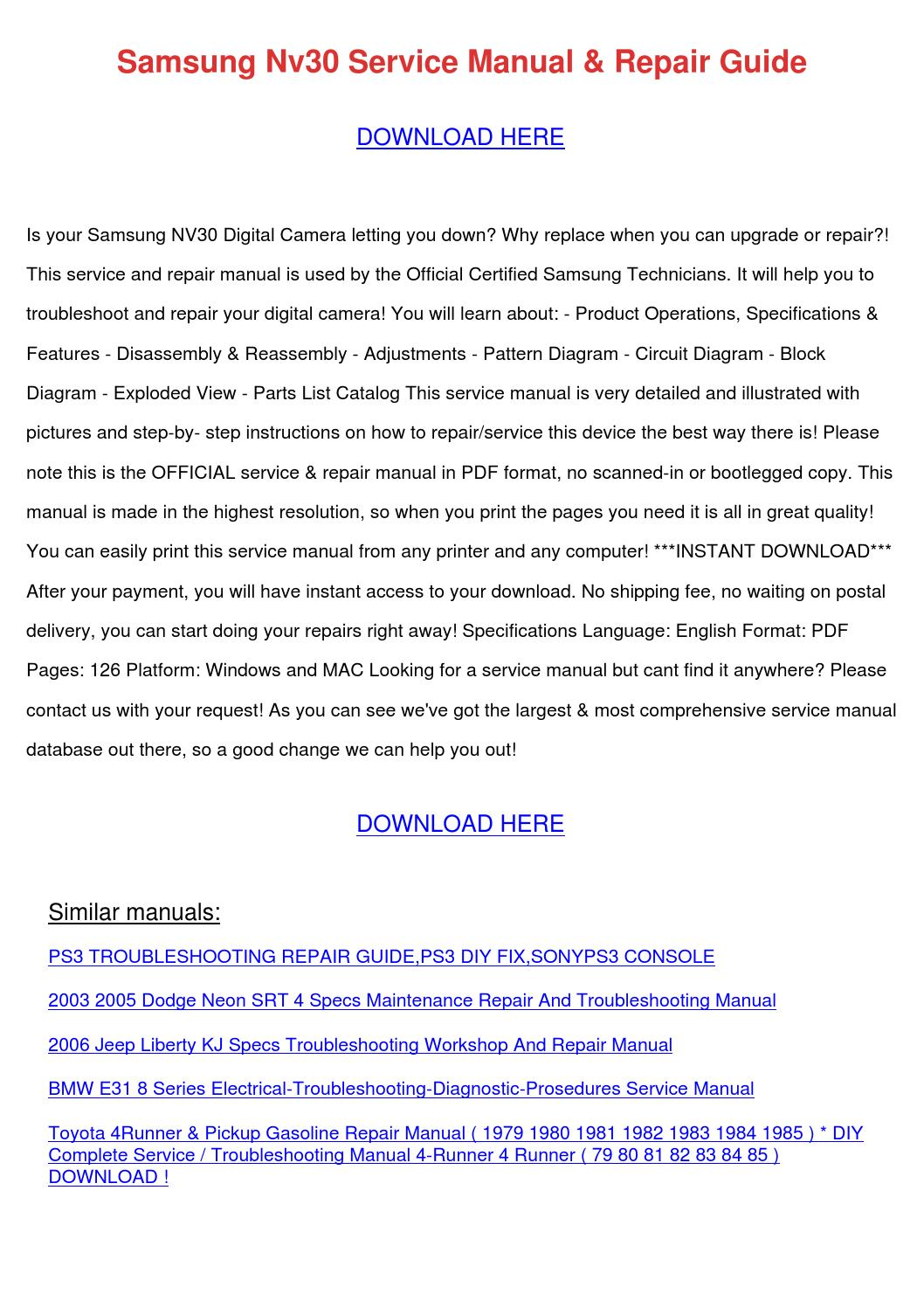Jeep Liberty Repair User Manual User Manual