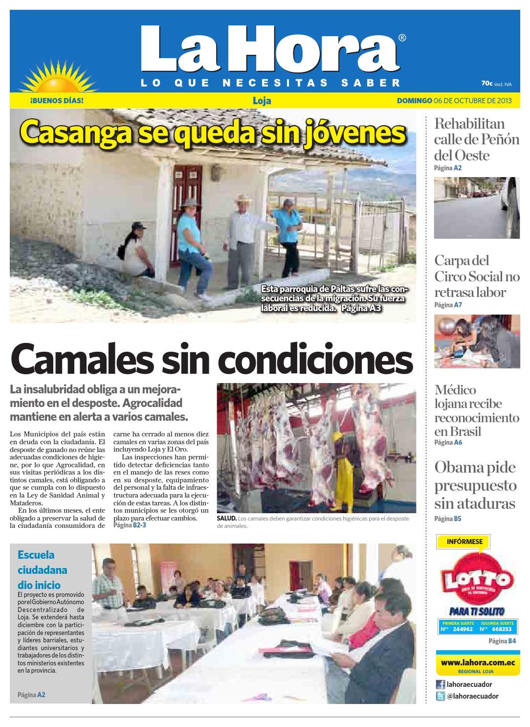 Diario La Hora Loja 06 De Octubre 2013 By Diario La Hora Ecuador  # Muebles Nilda House Quito