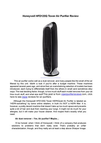 Honeywell Hfd120q Tower Air Purifier Review By Vipairpurifier Issuu