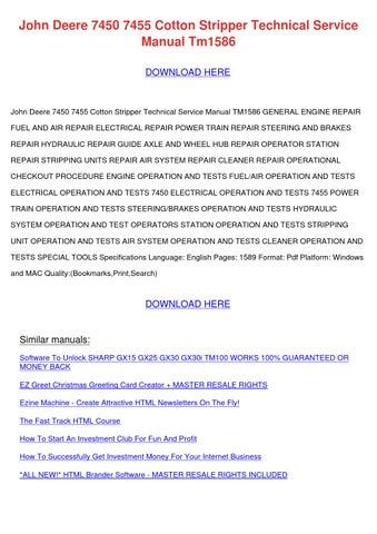 John Deere 7450 7455 Cotton Stripper Technica by LeeLaird - issuu
