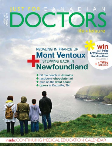 MARCH APRIL 2010 by Just For Canadian Doctors - issuu d5d6330deba6