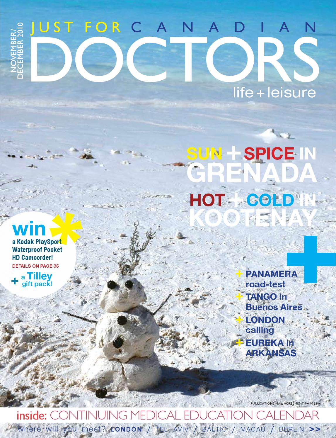 NOVEMBER DECEMBER 2010 by Just For Canadian Doctors - issuu