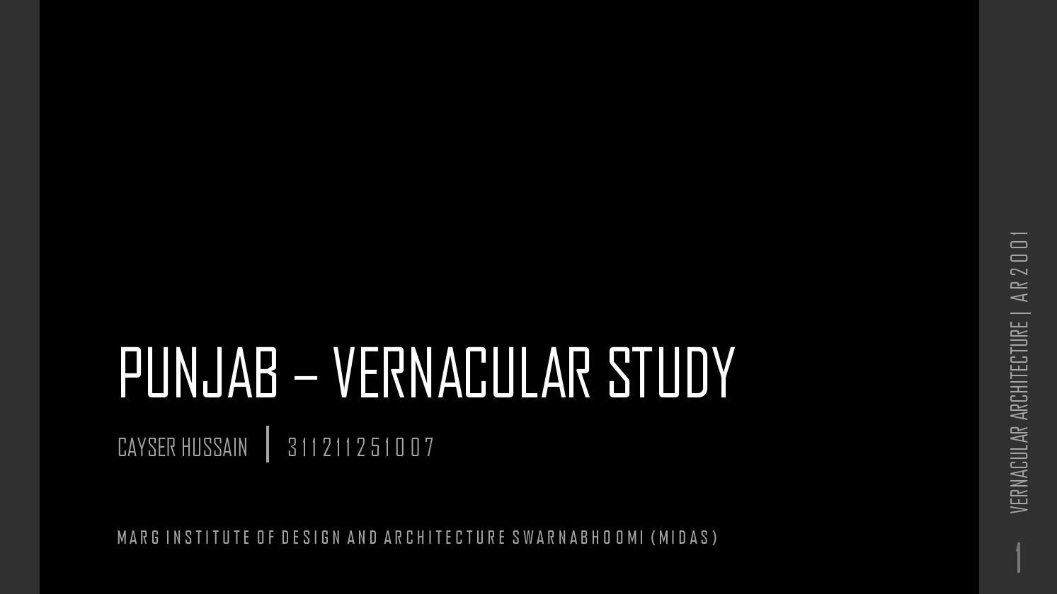 Vernacular architecture of PUNJAB by CAYSER - issuu