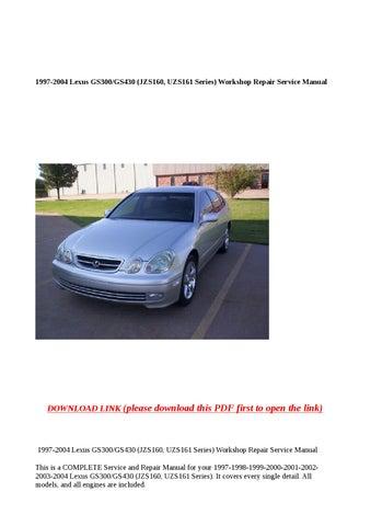 Lexus GS Owners Manual PDF 1/5