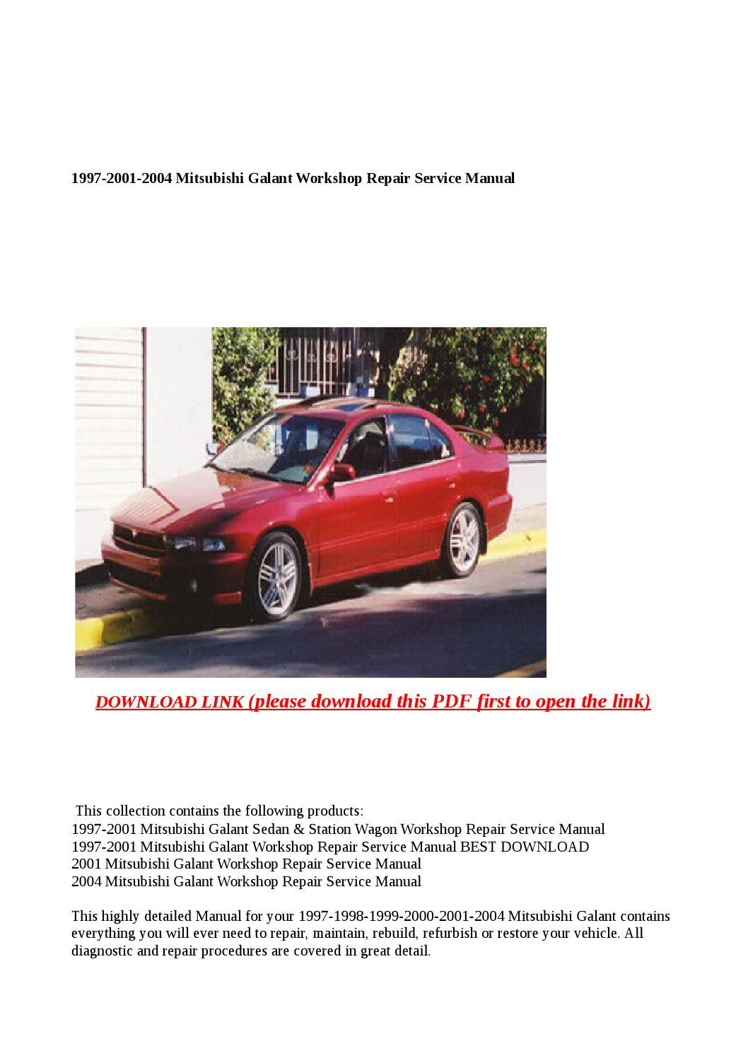 Mitsubishi galant 2001 manual pdf