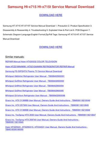 samsung ht x715 x715t service manual repair guide