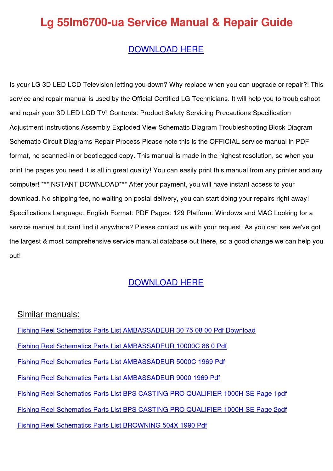lg 55lm6700 ua service manual repair guide by kayleeibarra