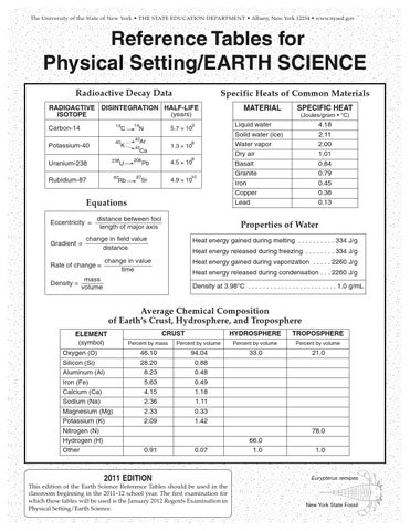 earth science reference tables 2011 by sam zebelman - issuu