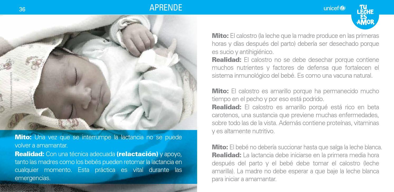 1.6. mitos y realidades de la lactancia materna by UNICEF ...