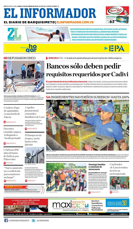 El informador 07 10 2013 by El Informador - Diario online Venezolano - issuu a778528d3a5