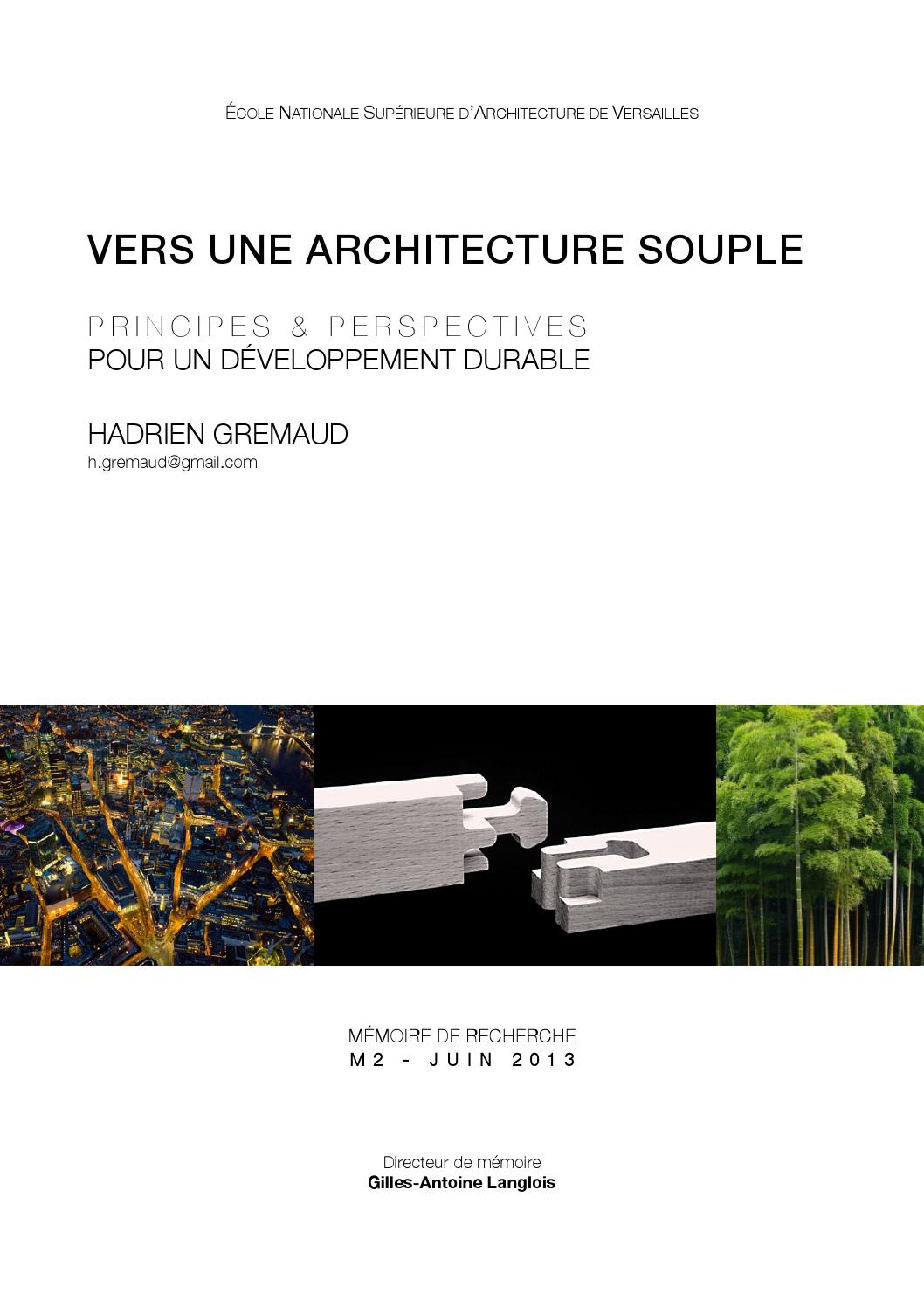 Vers Une Architecture Souple By Hadrien Gremaud Issuu