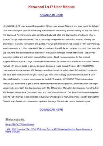 kenwood cream maker attachment a727 instruction leaflet