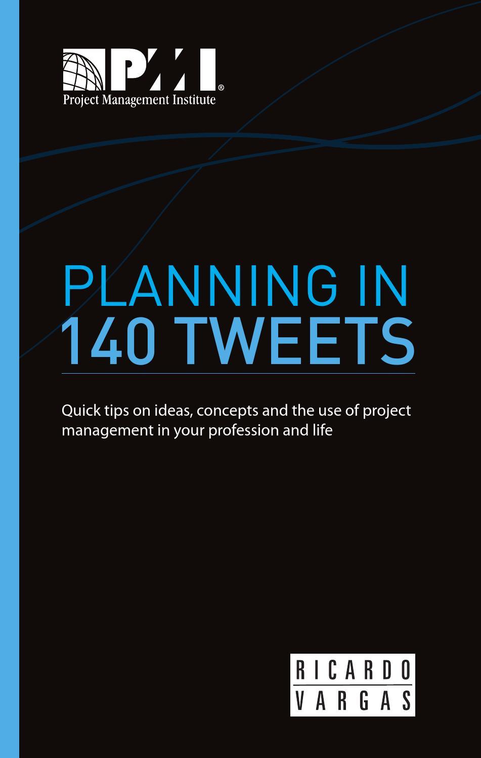 Planning in 140 Tweets by Ricardo Viana Vargas - issuu
