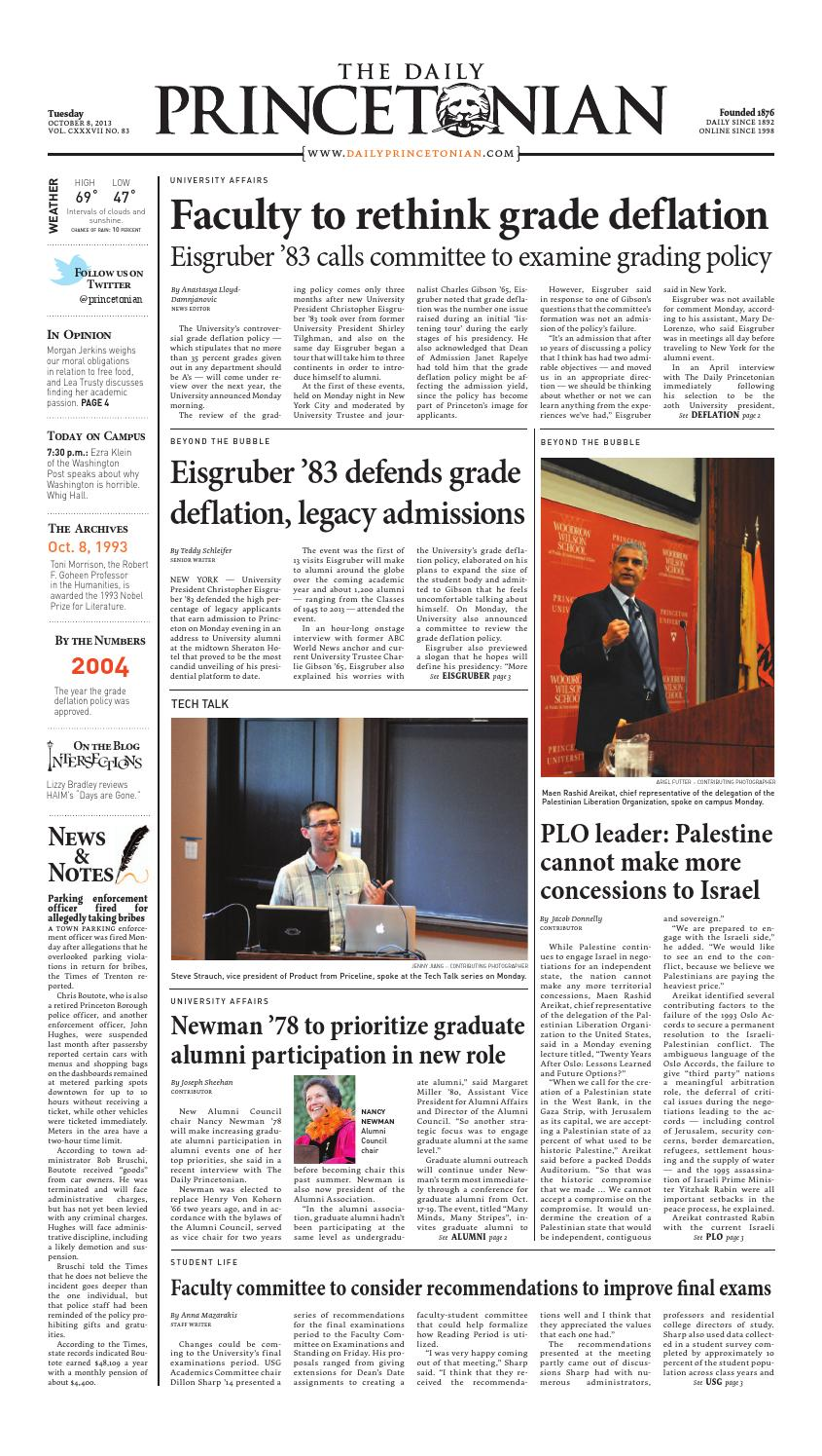 the latest 54046 64ea0 Today's paper: Tuesday, Oct. 8 by The Daily Princetonian - issuu
