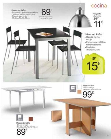 Catalogo carrefour moda hogar octubre by carrefour online for Mesa auxiliar cocina carrefour