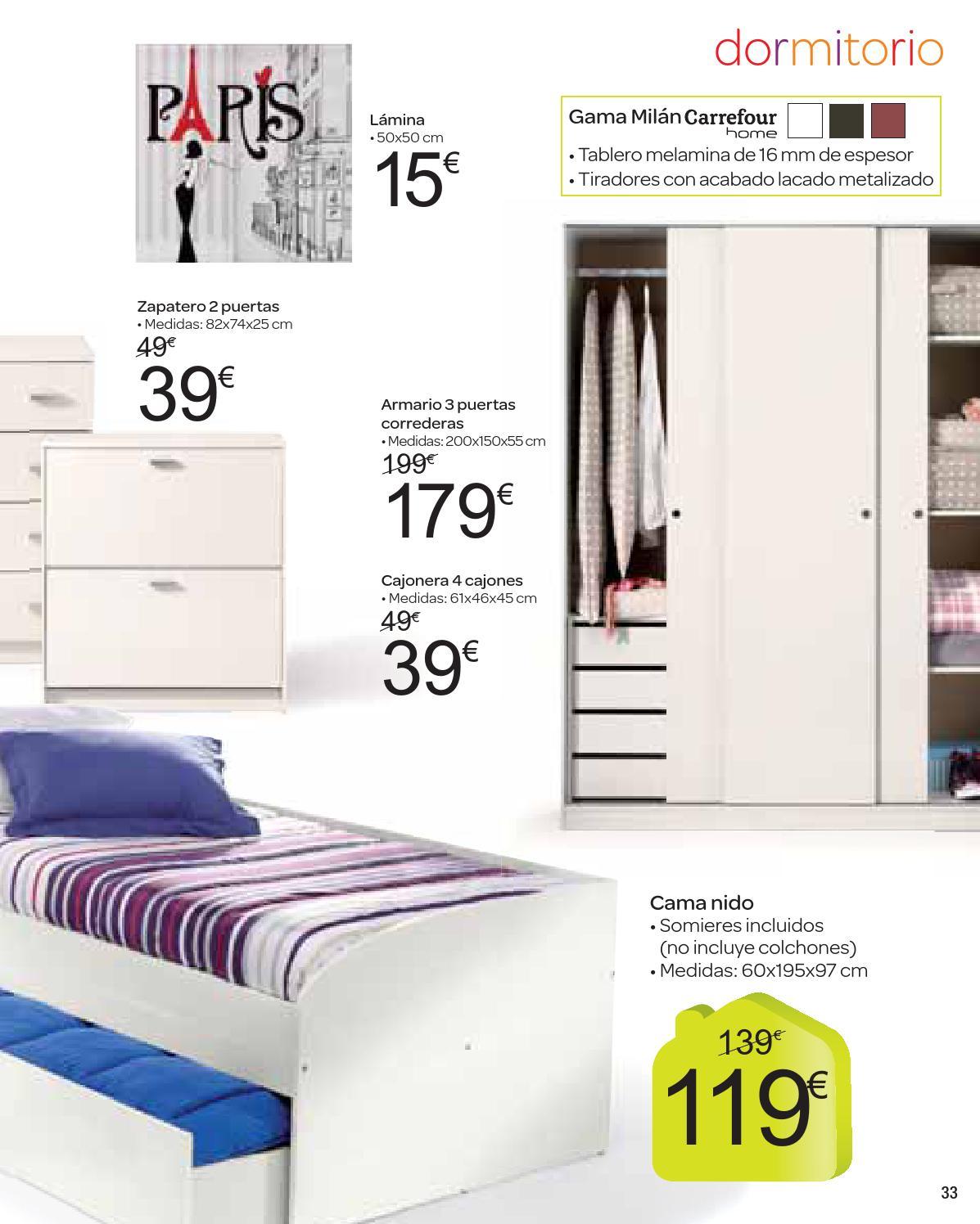 Somier Nido Alcampo.Catalogo Carrefour Moda Hogar Octubre By Carrefour Online Issuu