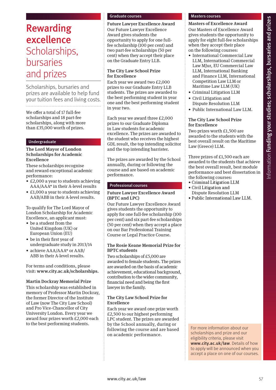 The City Law School 2014/15 brochure by City, University of London