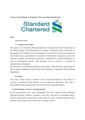 introduction standard chartered bank Standard chartered bank is analysed in terms of its swot analysis, competitors and stp.