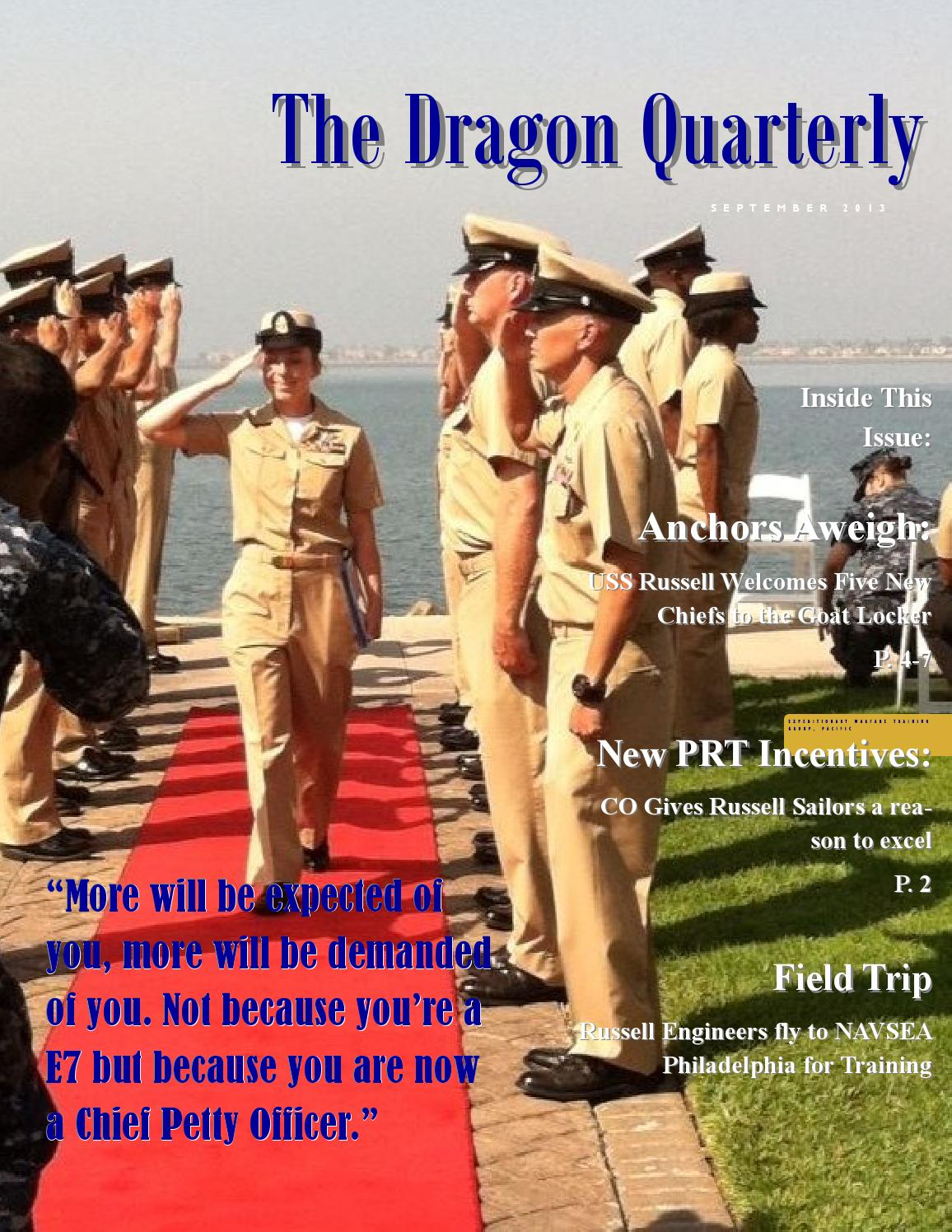 Dragon quarterly by USS Russell PAO - issuu