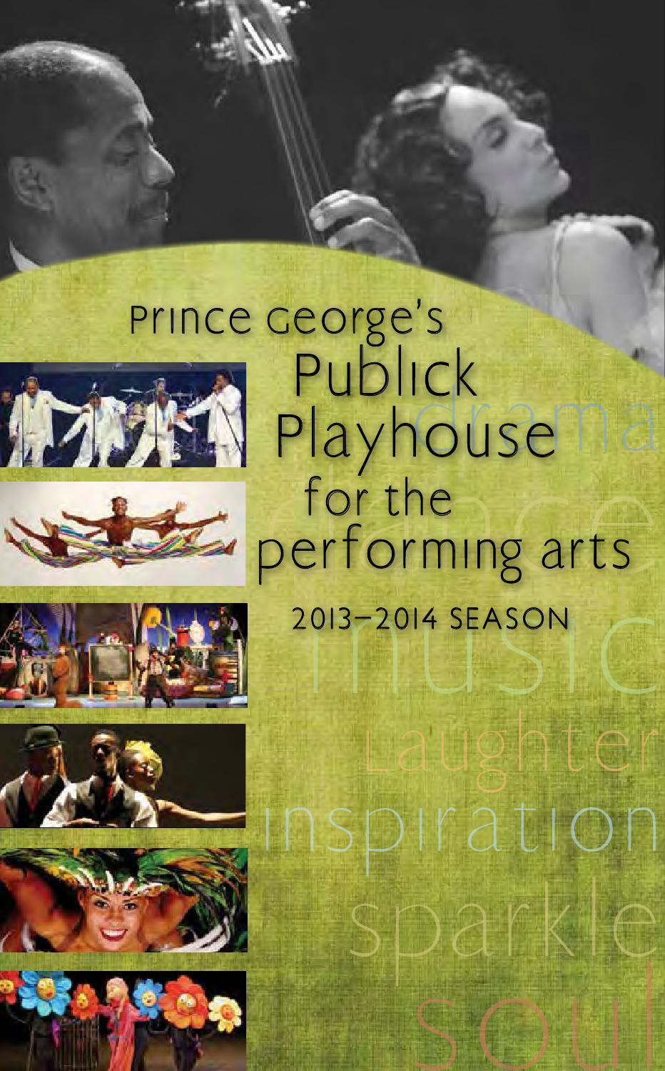 2013 2014 Publick Playhouse Calendar Of Events By M Ncppc