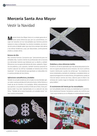 Mercería Actualidad 93 Haberdashery Products And Handicrafts By Prensa Técnica S L Issuu