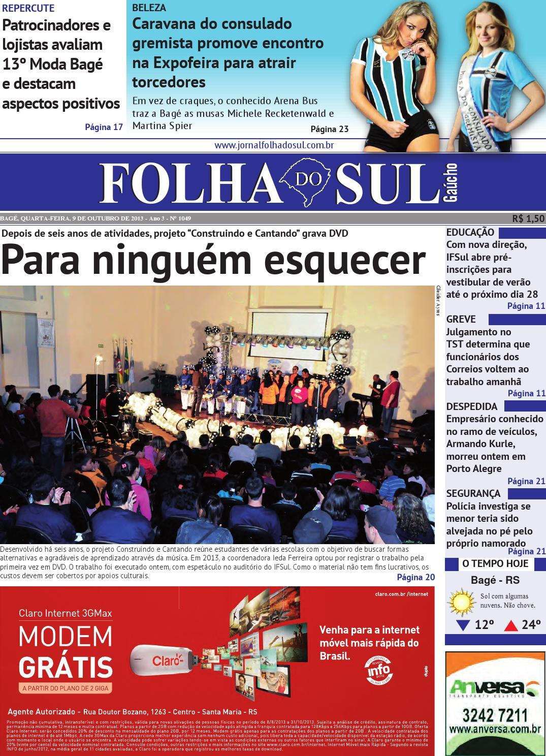 Folha do Sul Gaúcho Ed. 1049 (09 10 2013) by Folha do Sul Gaúcho - issuu ea3bf9cdff749