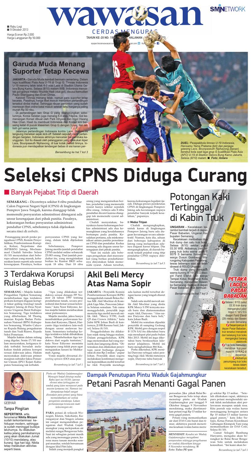 Wawasan 09 Oktober 2013 By Koran Pagi Issuu Produk Ukm Bumn Batik Lengan Panjang Parang Toko Ngremboko