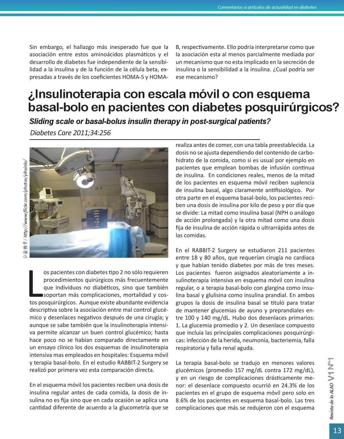 tabla de insulina de escala móvil para diabetes