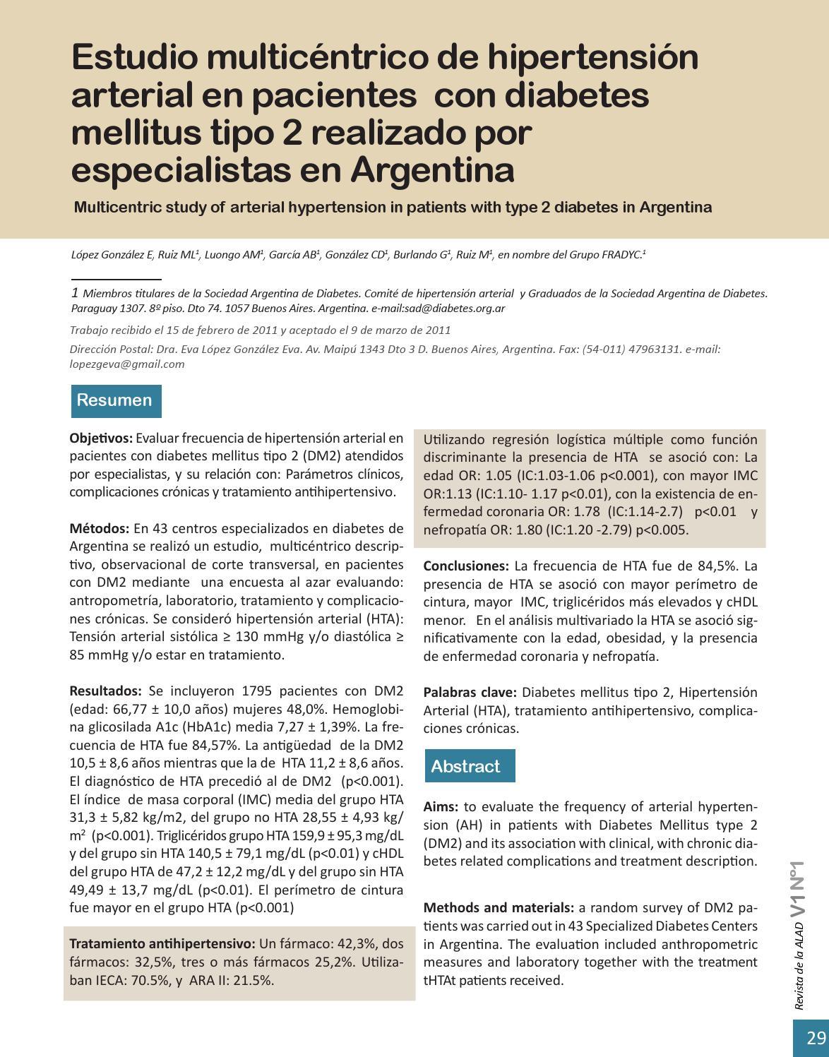 hipertensión y diabetes mellitus tipo 2