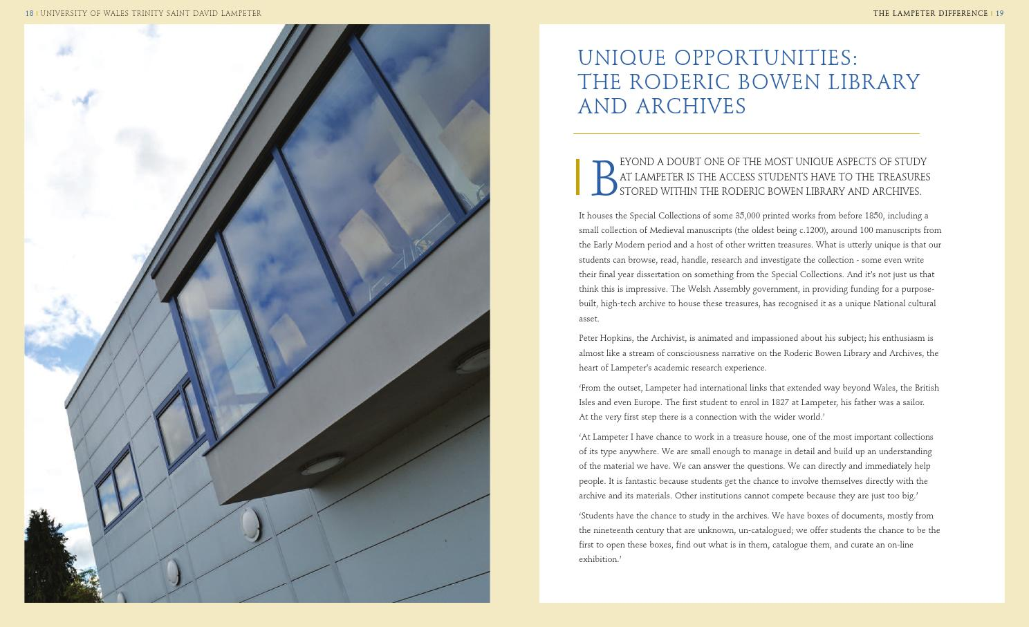 Lampeter Difference By University Of Wales Trinity Saint David Issuu