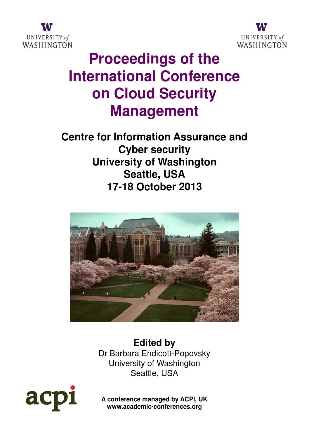 The Proceedings of the International Conference on Cloud