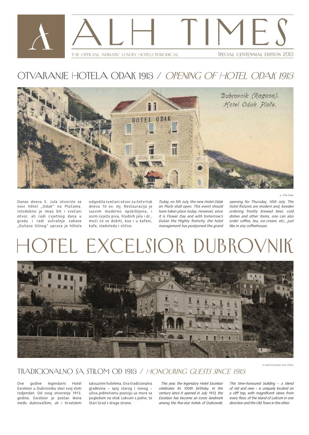 Alh Times Special Centennial Edition By Adriatic Luxury Hotels Issuu