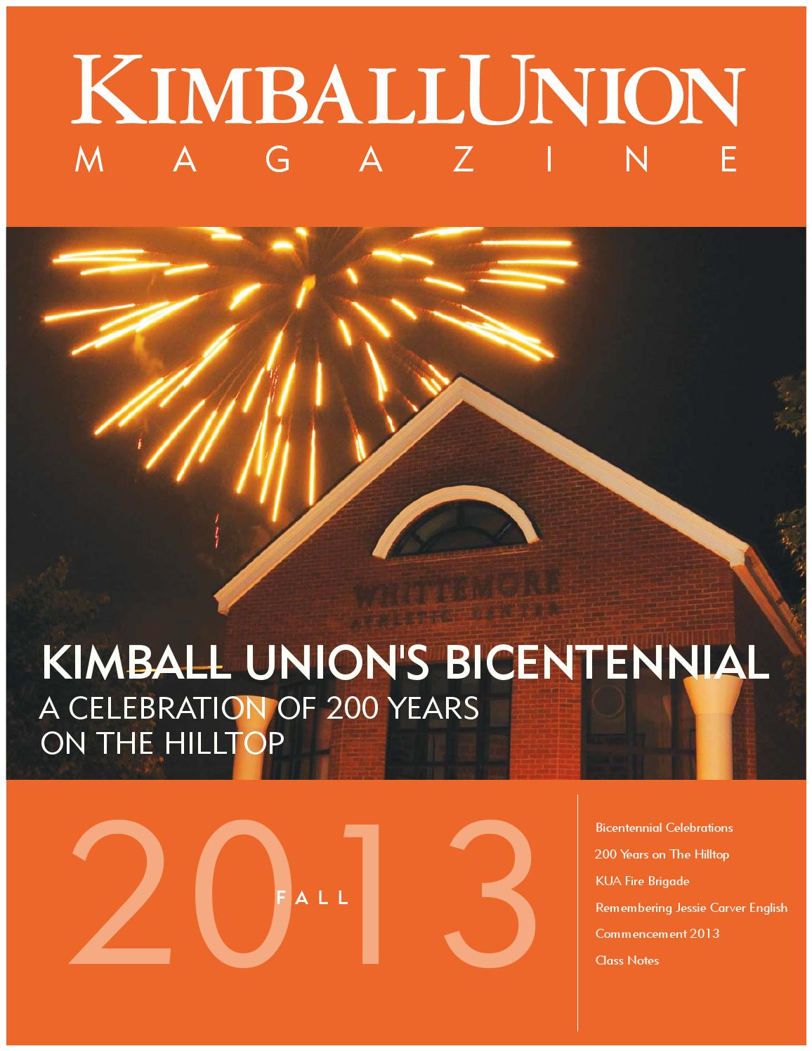 Kimball Union Magazine Fall 2013 By Christopher Creeger Issuu