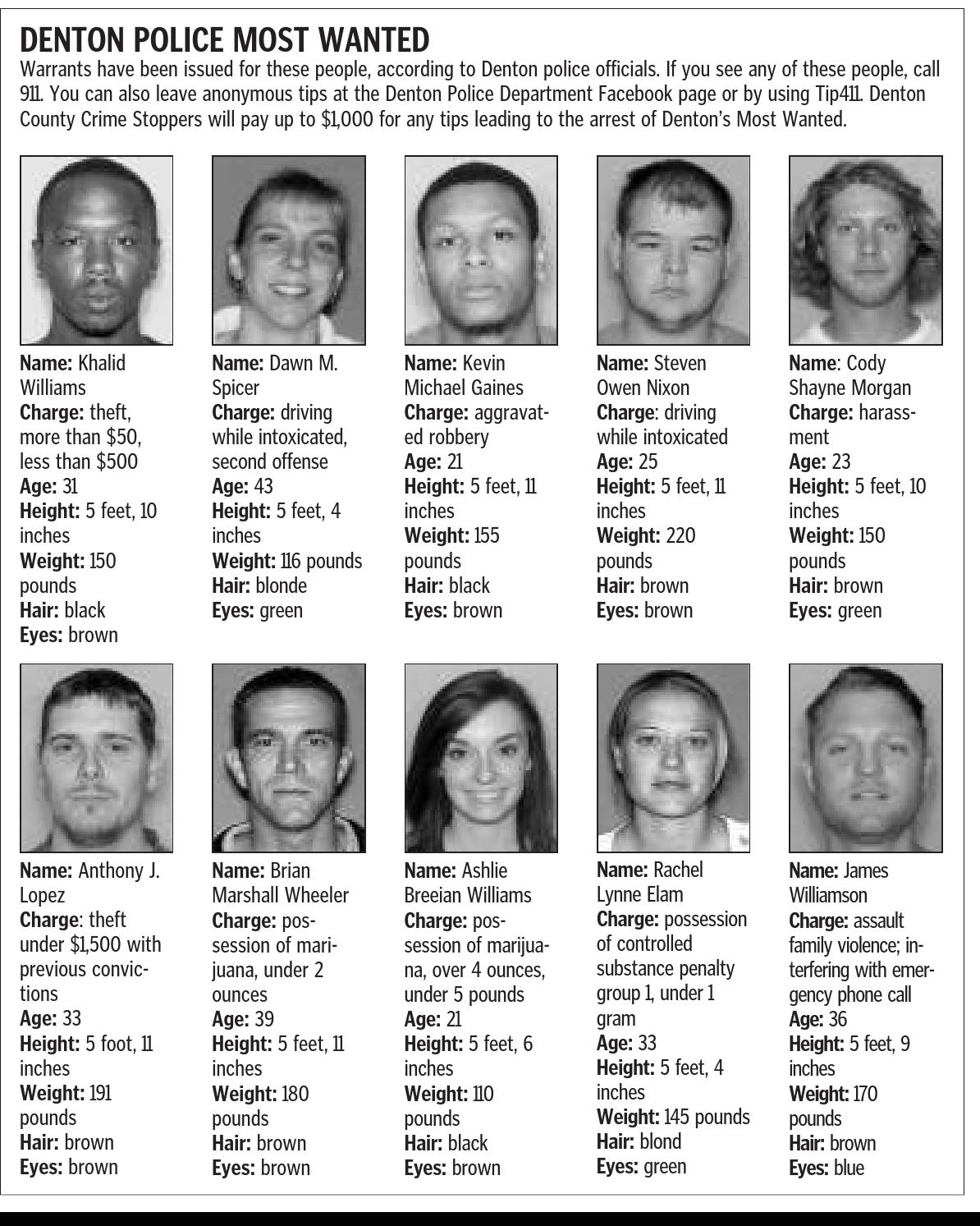 Denton police most wanted by Larry McBride - issuu