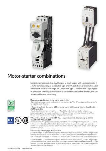 M7 Set Dol Starter pour DIL M15 Eaton PKZMO-XDM12 Câblage Set