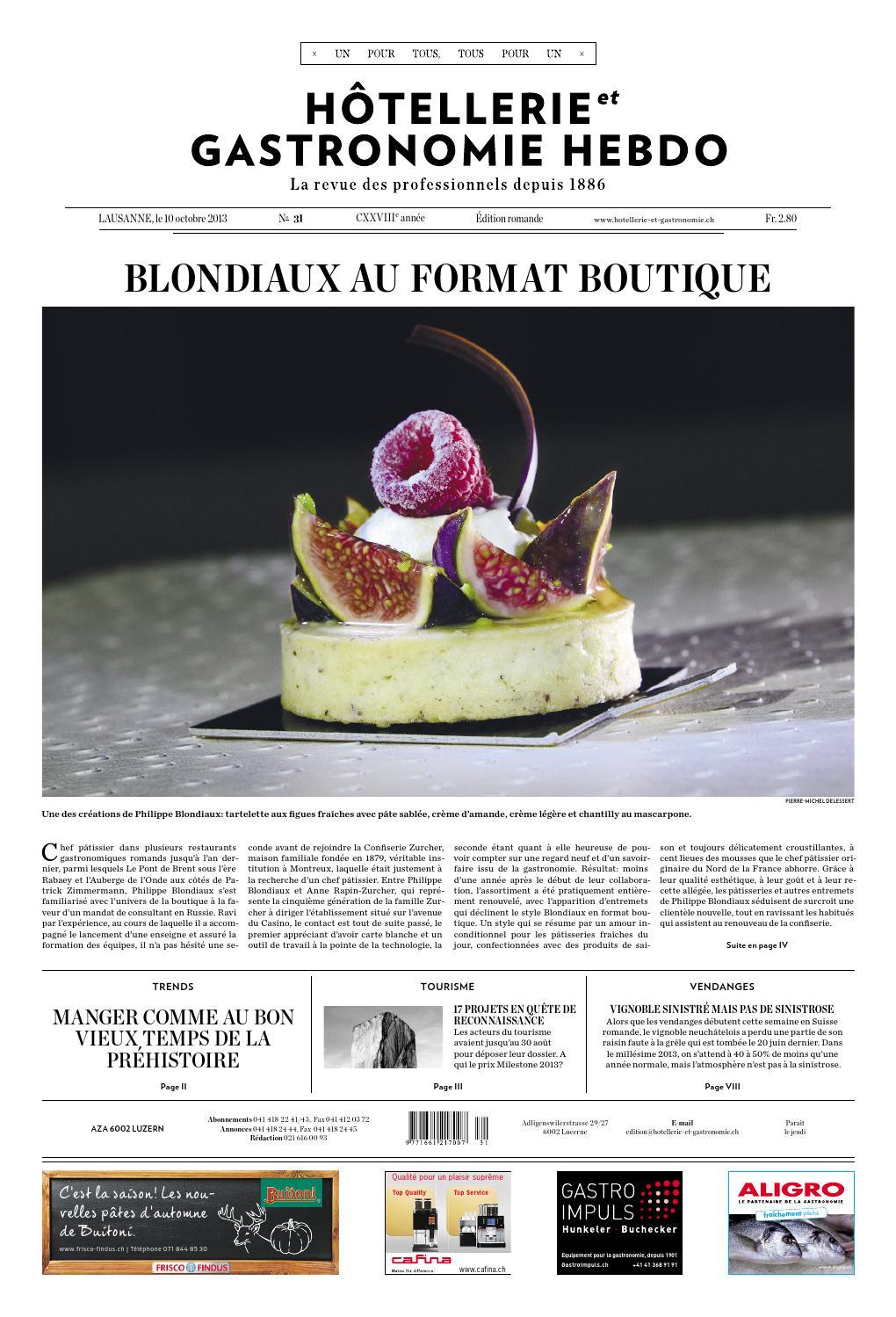 HetG Hebdo 31 2013 By Hotellerie Gastronomie Verlag