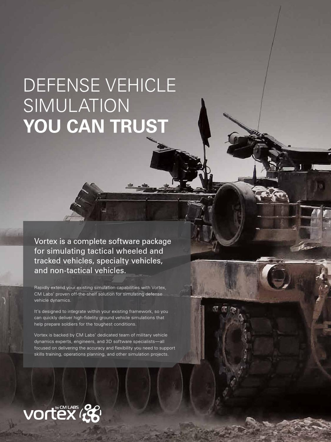 CM Labs: Defense Vehicle Simulation You Can Trust by CM Labs