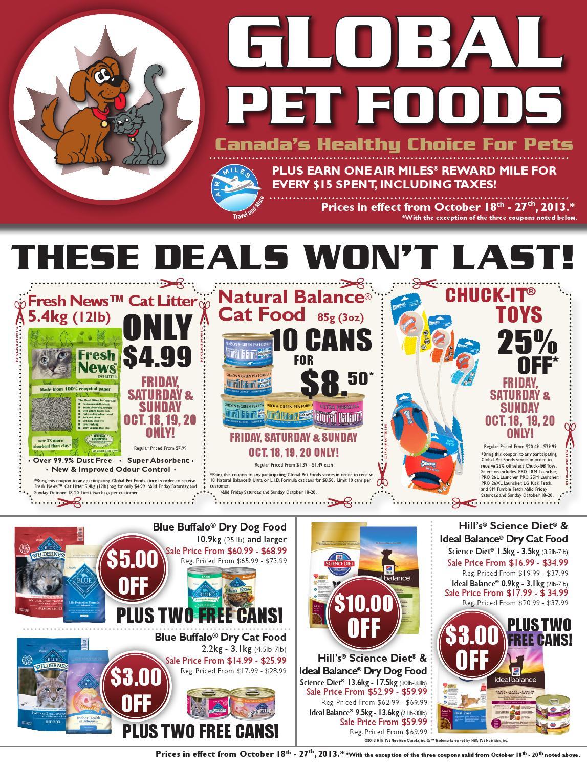 Global Pet Foods Flyer Ontario Amp Maritimes October 18