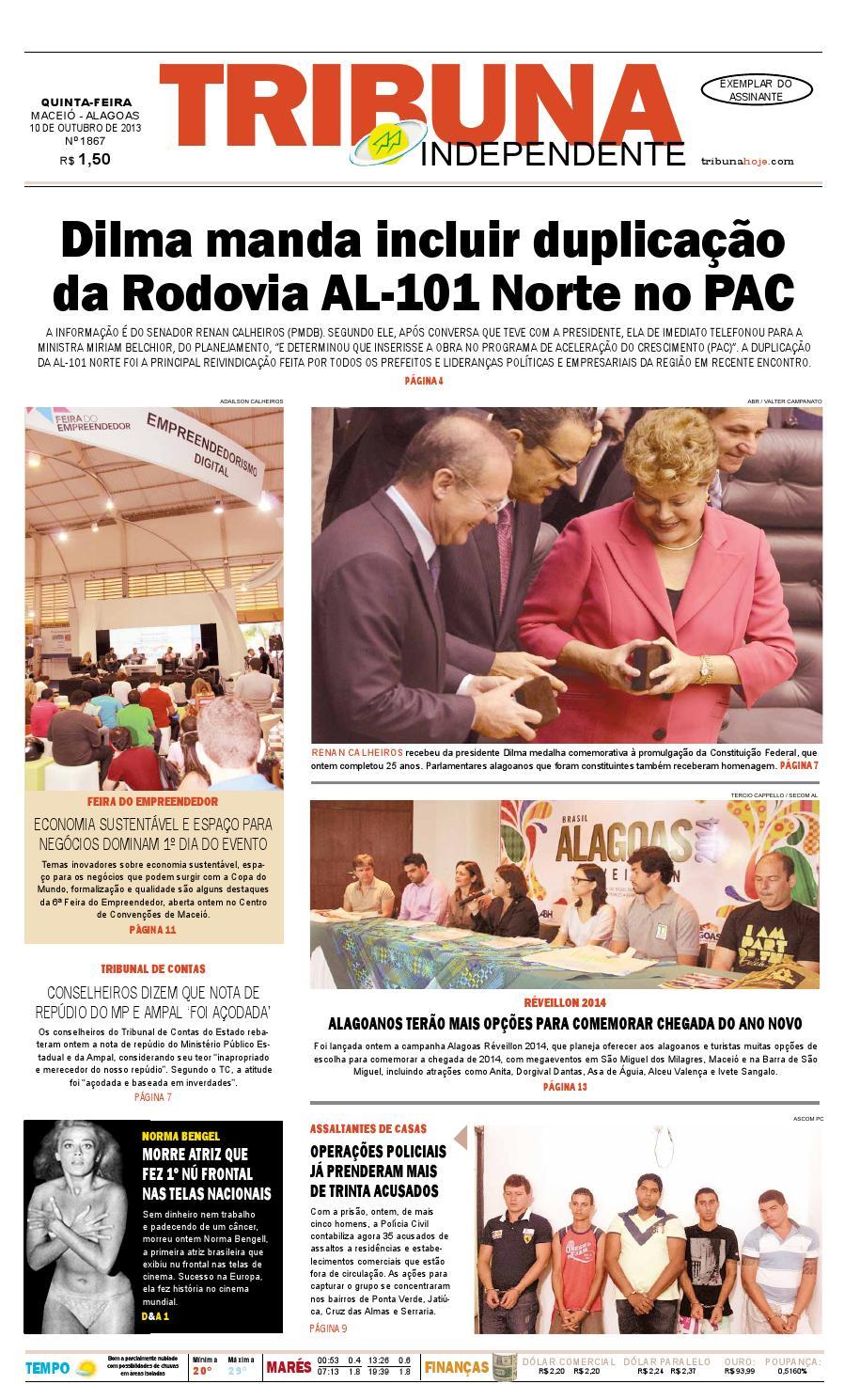 042b0cb2a40 Edição número 1867 - 10 de outubro de 2013 by Tribuna Hoje - issuu