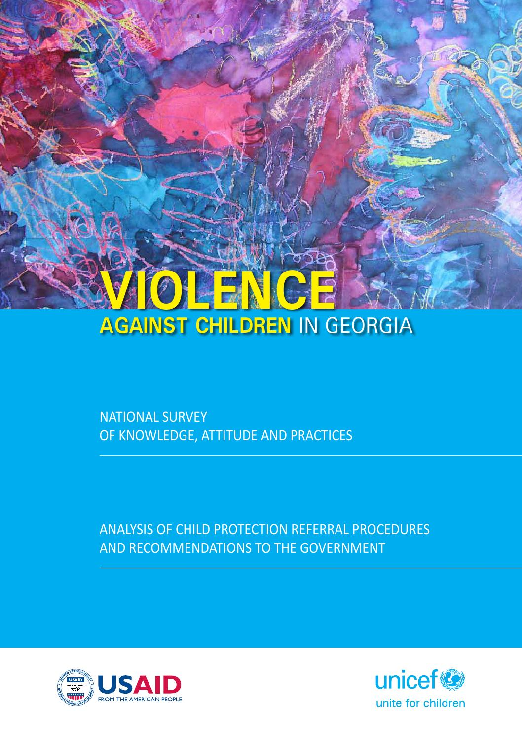 Violence against Children in Georgia by UNICEF Georgia - issuu